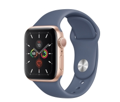 Apple Watch Series 5 (40mm) Case Gold Aluminum; Band Alaskan Blue(Orther iTems) ;(GPS) New 100% Full Box MS: FHMLTJ