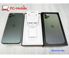 IPhone 11 Pro Max (6.5in) 256G Midnight - Green (Xanh) Quốc tế (Sim Free) New 100%. MS:2755